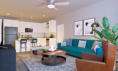 Living Room, Sonceto Apartments, 1
