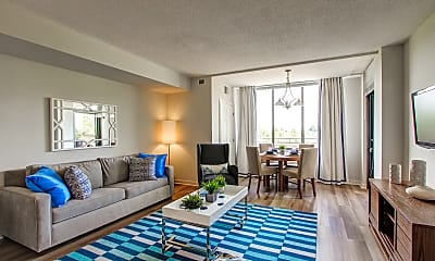 Living Room, Wentworth House Apartments, 1