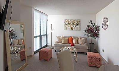 Living Room, Maple Pointe Senior Apartments, 1