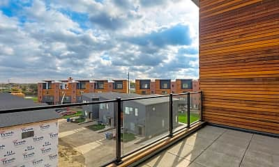 Patio / Deck, Hubbell Townhomes, 2