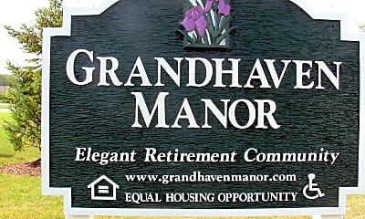 722 Signage directional 1 8-07, Grandhaven Manor, 1