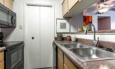 Kitchen, Creekwood Apartments, 1