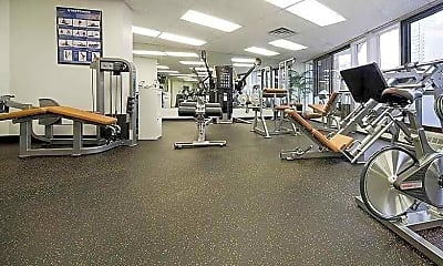 Fitness Weight Room, Apartments at Austin North, 2