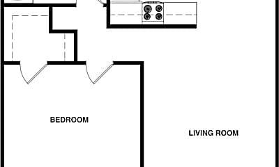 Bedroom, 8502 E 66th Pl, 2