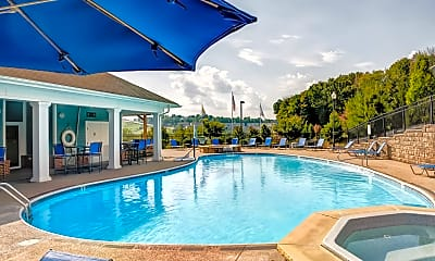 Pool, West Run Apartments - Per Bed Leases, 1