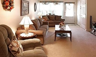 Living Room, Waterside Apartments, 1
