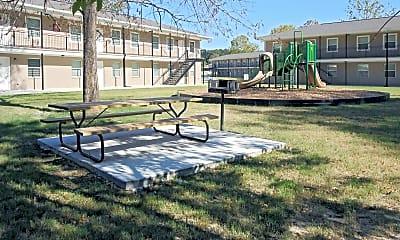 Recreation Area, Terrace of Hammond Apartments, 1