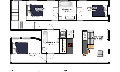 Bedroom, 1021 E Carson St, 2
