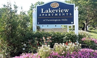 Community Signage, Lakeview Apartments of Farmington Hills, 1
