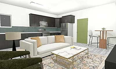 Living Room, 130 S Soto St, 1