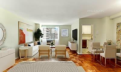 Living Room, 340 E 80th St 14L, 0