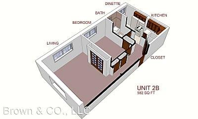 Bedroom, 206 E 10th Ave, 2