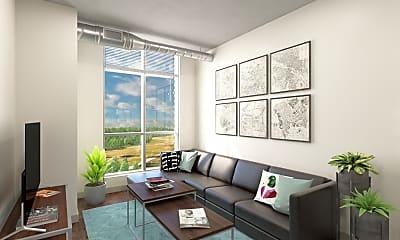 Living Room, 959 Franklin-Per Bed Lease, 1