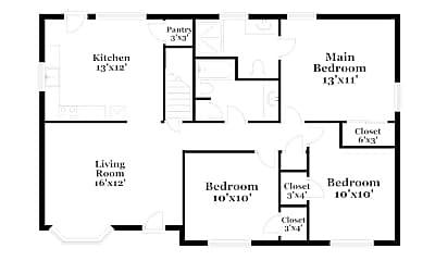 Building, 6820 Markham Dr, 1