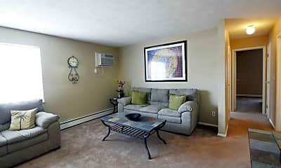 Living Room, Deer Creek Apartments, 1