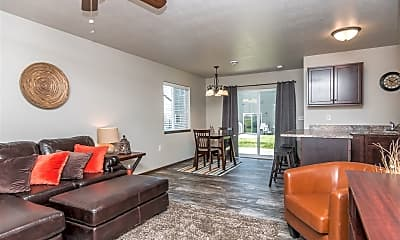 Living Room, Tiger Way Town Homes, 1