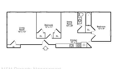 Bedroom, 400 N Marion St, 2