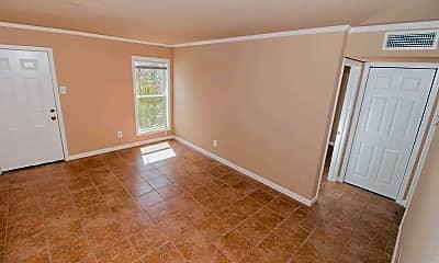 Living Room, Evergreen Apartments, 1