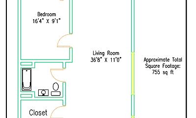 Building, 6812 Polk St, 2
