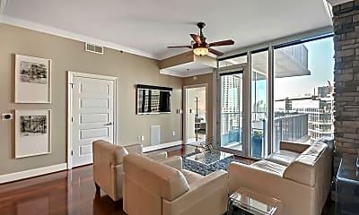 Living Room, 1080 Peachtree St NE 2213, 1