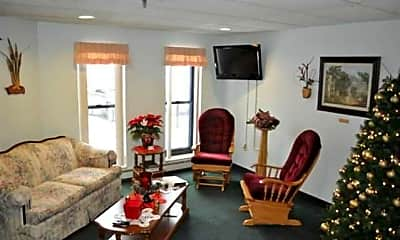 Living Room, Alverna Apartments, 1