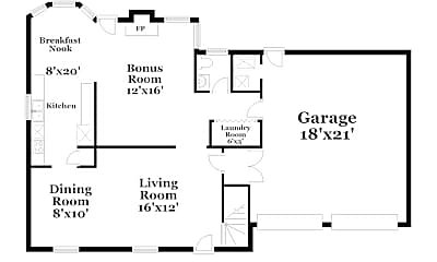 Building, 9540 Errington Ln, 1