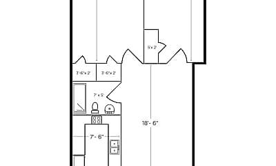 Bathroom, 1329 Main St, 2