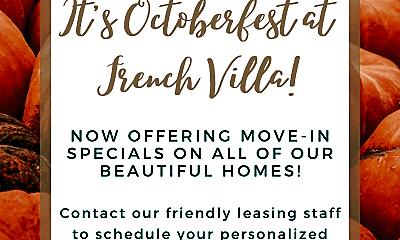 Community Signage, French Villa Apartments, 0
