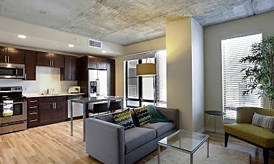 Living Room, Verve Apartments, 1