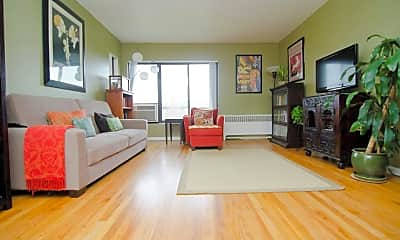 Living Room, Amber Square Apartments and Townhomes, 0