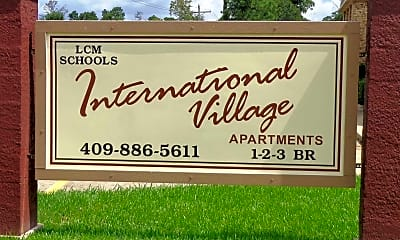 Community Signage, International Village Apartments, 1