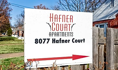 Community Signage, Hafner Court Apartments, 2