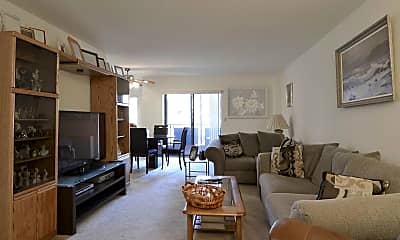 Living Room, New Springville Apartments, 1