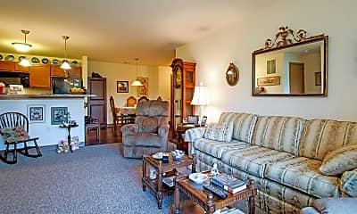 Living Room, Fox Crossing Apartments, 1