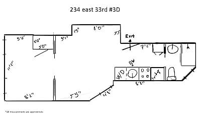 234 E 33rd St 3D, 2