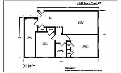 Living Room, 63-94 Austin St, 2