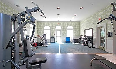 Fitness Weight Room, Overland Gardens Apartments, 1