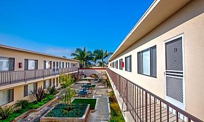 Courtyard, Emerald Garden Apartments, 1