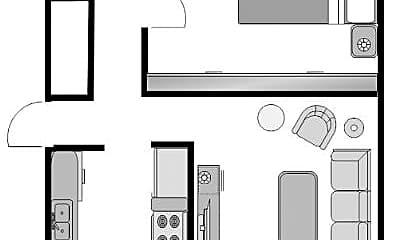 Living Room, 1235 Waller St, 1