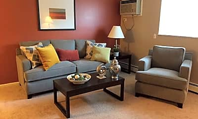 Living Room, Fox Run Apartments, 1
