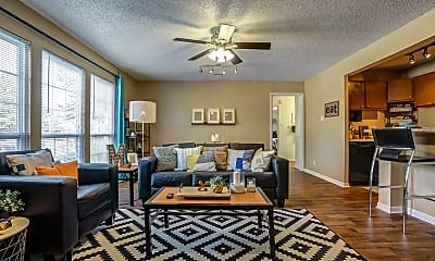 Living Room, Campus View Apartments, 1