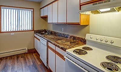 Kitchen, Clark Place Apartments and Townhomes, 1