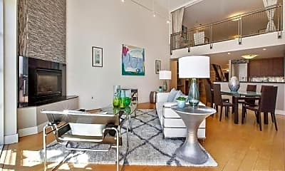 Living Room, 1221 Harrison St, 1