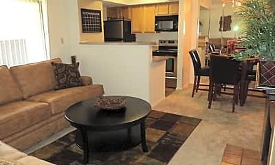 Living Room, Princeton Club Apartments, 0