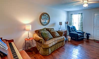 Living Room, Deer Ridge Apartments, 1