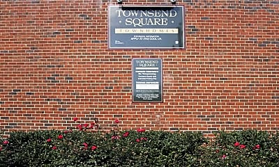 Community Signage, Townsend Square Townhomes, 2