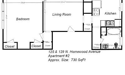 Building, 125 N Homewood Ave, 1