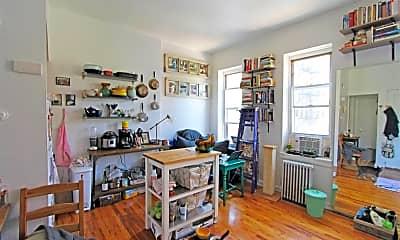 Living Room, 206 W 132nd St 4-R, 1