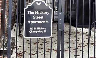Community Signage, 513 N Hickory St, 1
