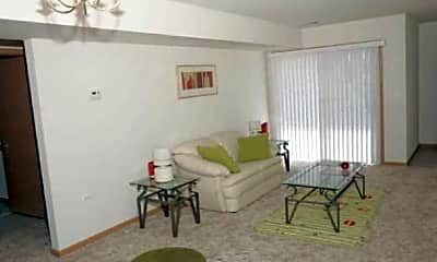 Living Room, Fox Place Apartments, 1